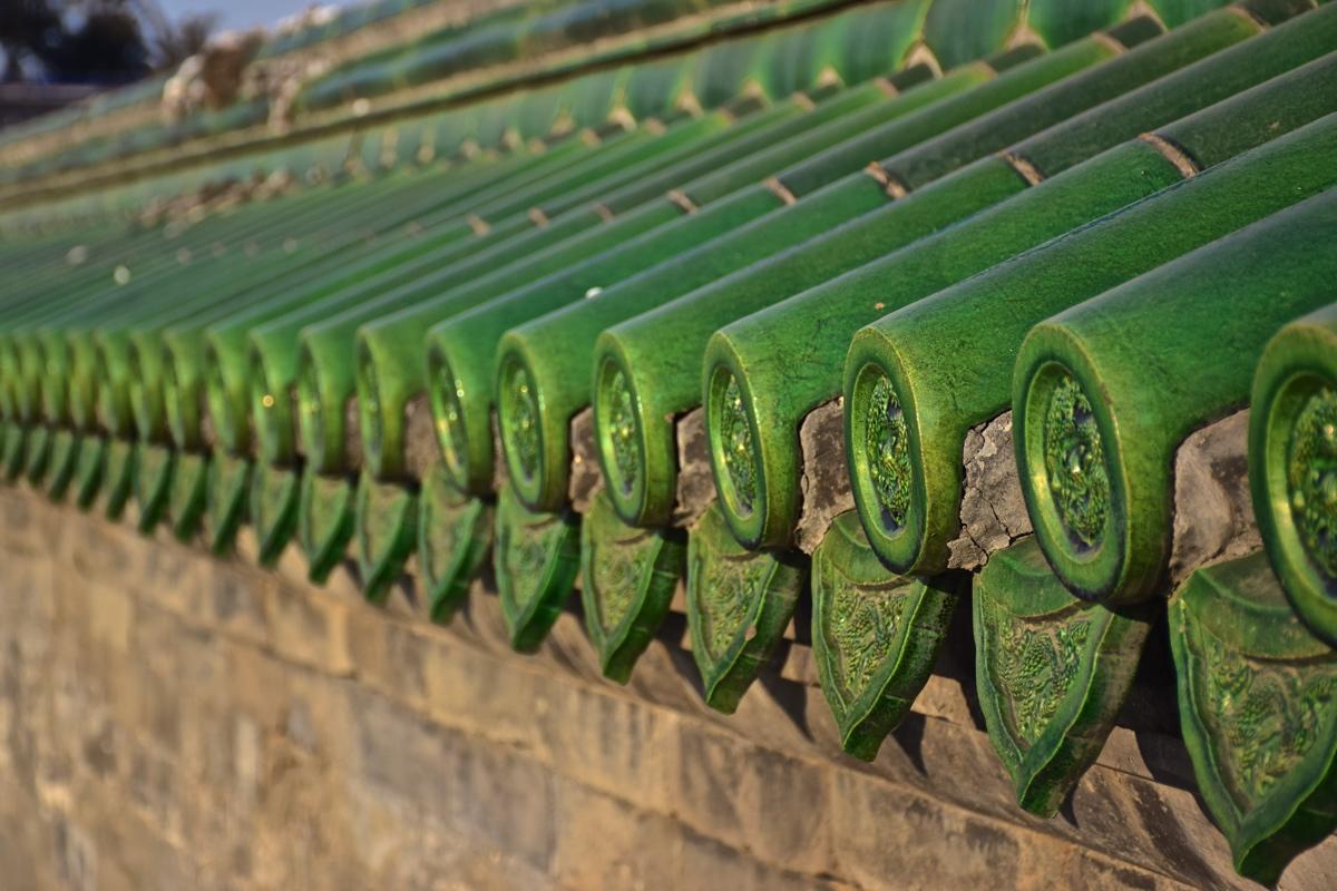 Toit typique des temples de Chine