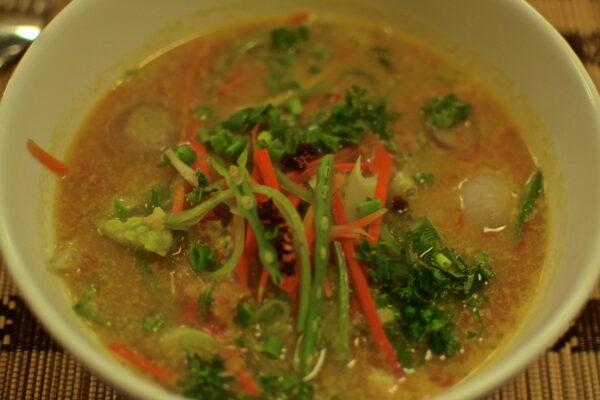 Coconut vegetables soup