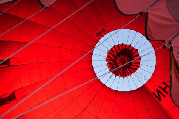 Dégonflage de la montgolfière
