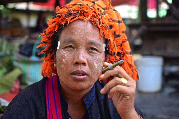 Femme Pa-O en Birmanie