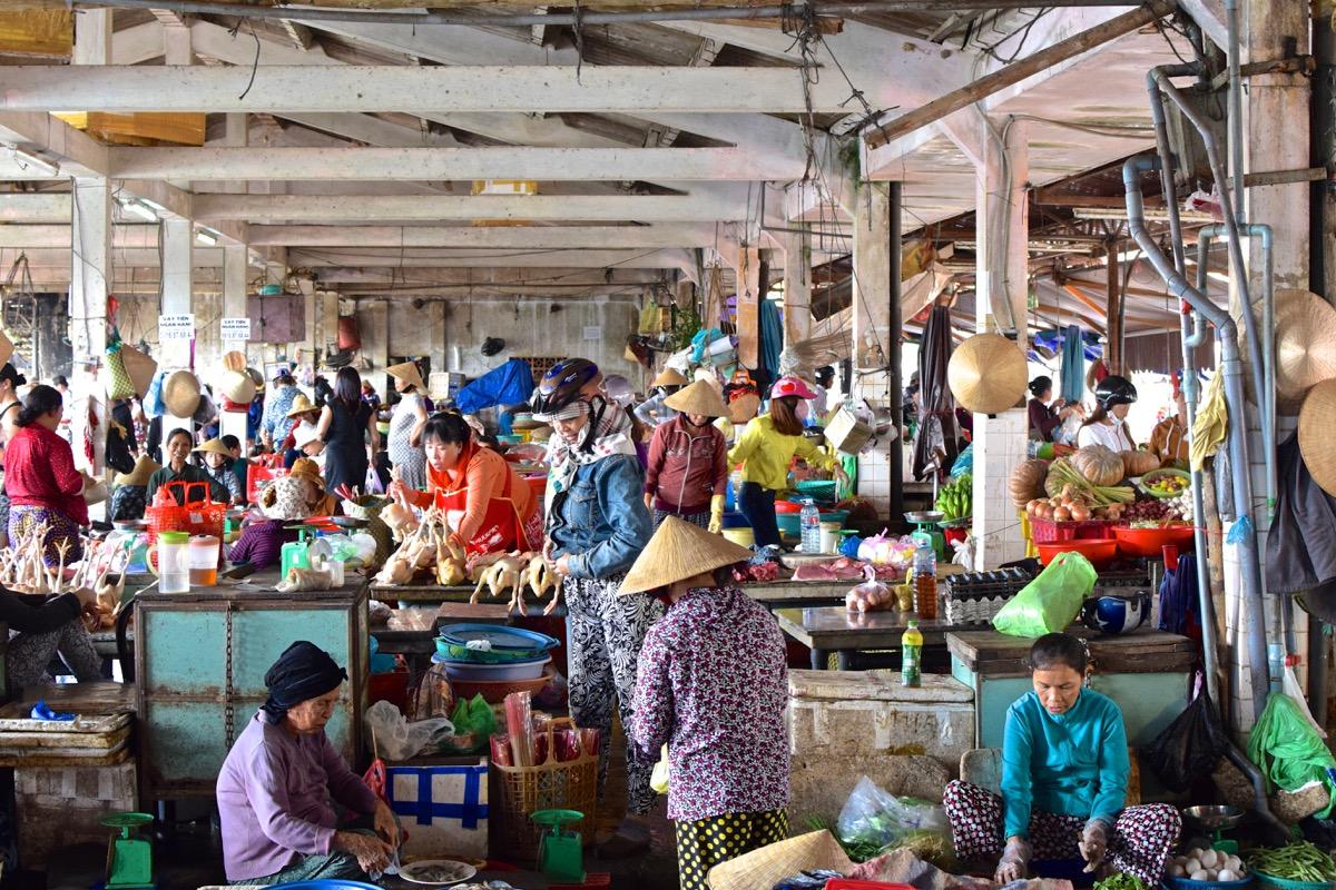 Fish market d'Hoi An au Vietnam