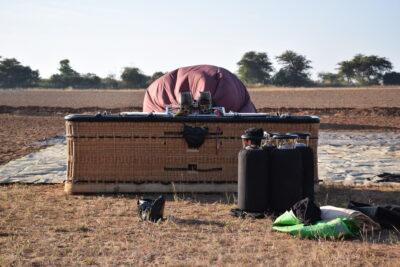 Panier de la montgolfière