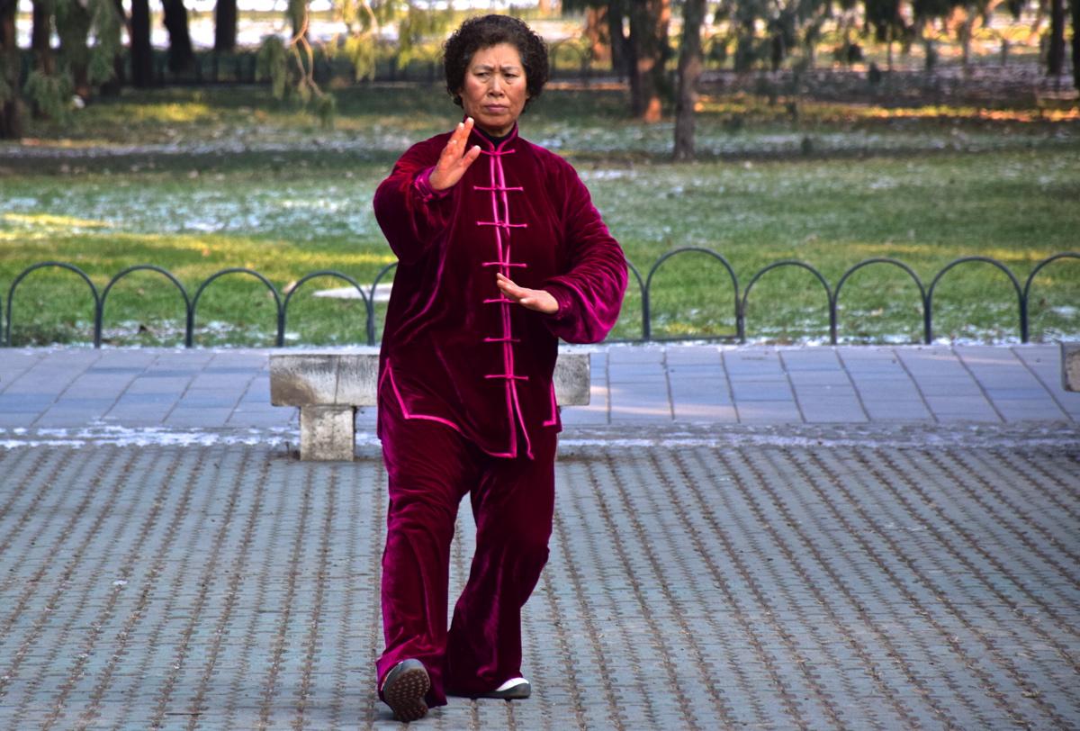 Dans le parc du temple du Ciel à Pékin