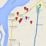 Parcours du mon vol en montgolfière à Bagan