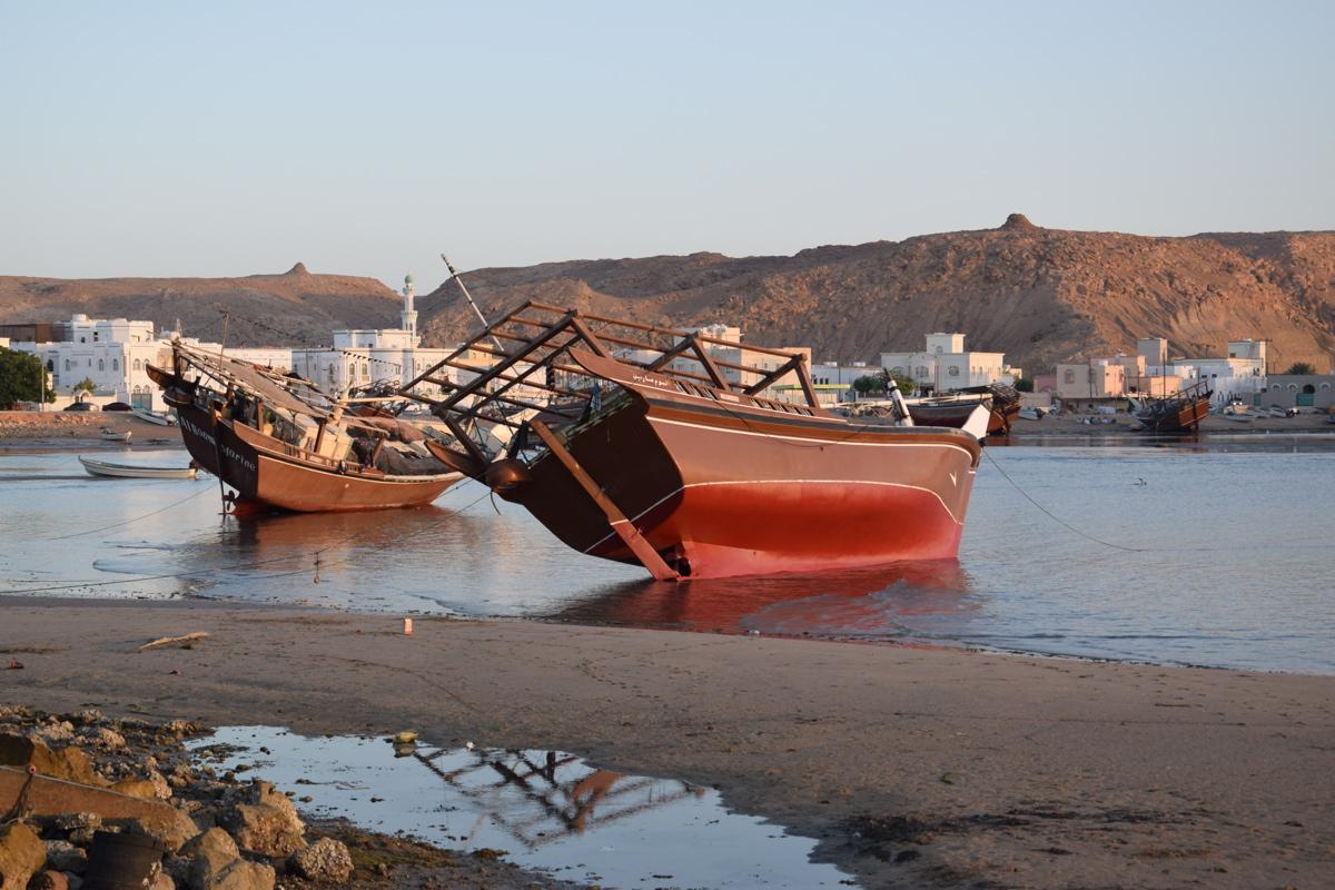 Port de Sour à marée basse, Sultanat d'Oman