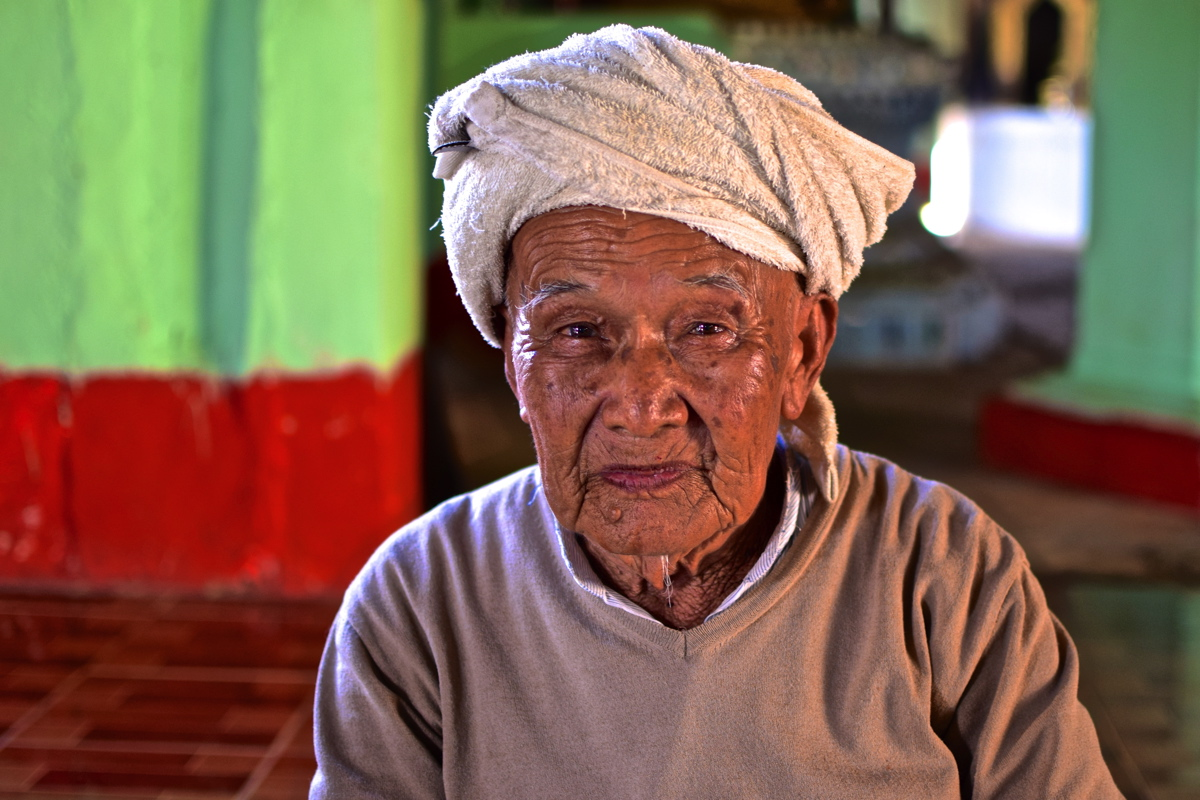 Portrait d'un homme birman