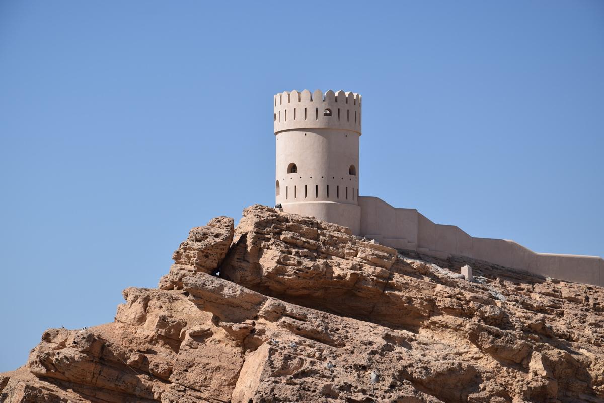 L'un des forts de Sour au sultanat d'Oman