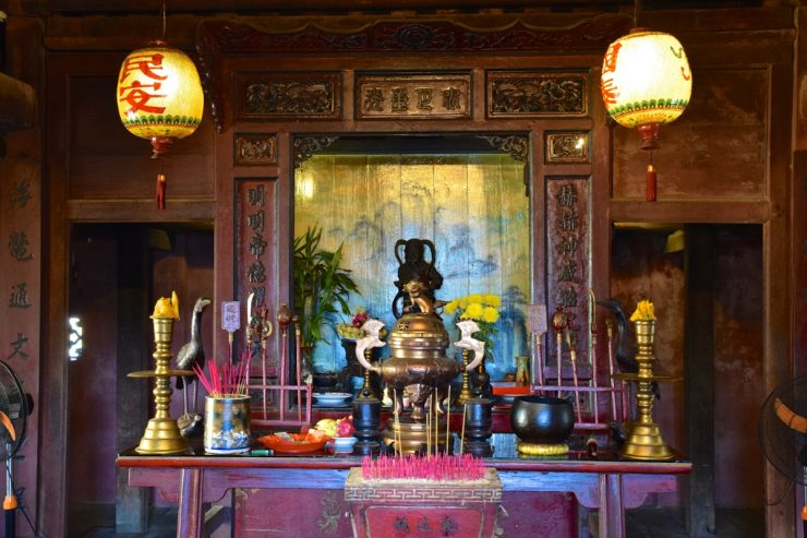 Un temple à Hoi An