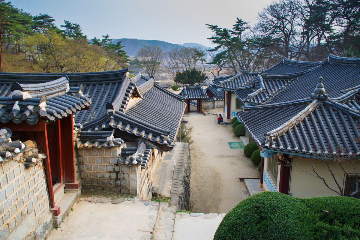 Dosan Seowon au nord d'Andong en Corée du Sud