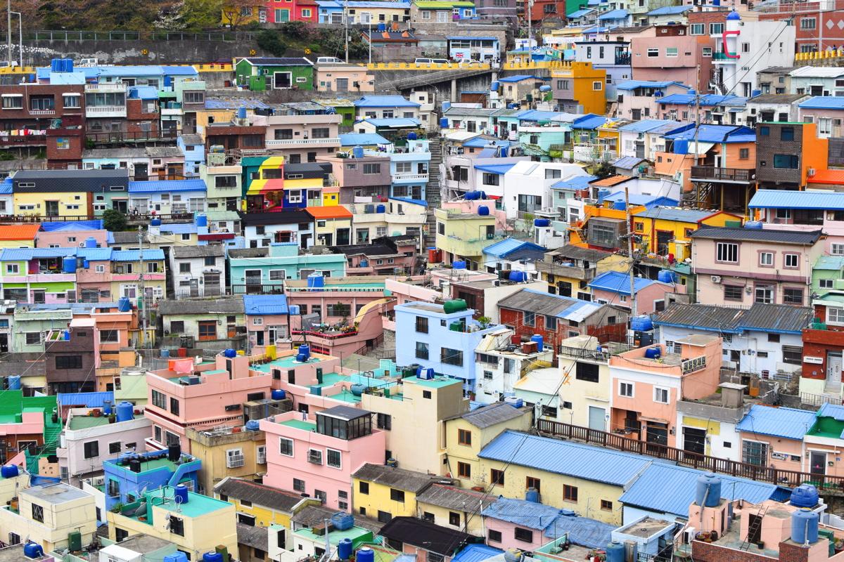 Quartier de Gamcheon à Busan en Corée du Sud