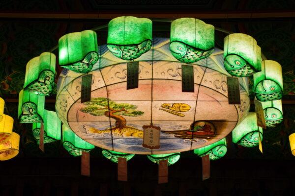 Lanterne au temple Jogyesa de Séoul