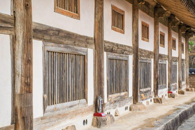 Bâtiment hébergeant les tripitaka koreana