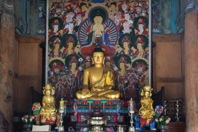 Bouddha au temple Haeinsa