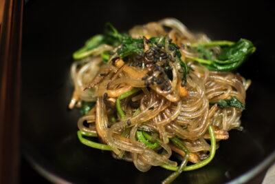 Noodles au restaurant Balwoo à Séoul