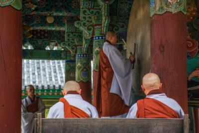 Tambour au temple Haeinsa