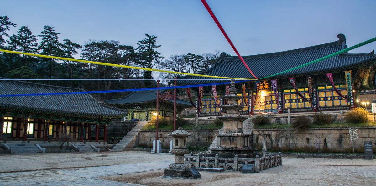 Début de soirée au temple Haeinsa