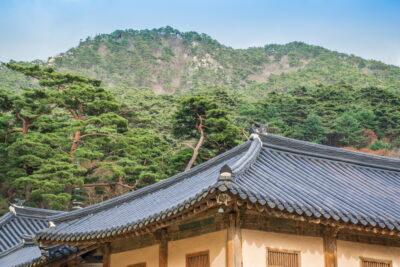 Cadre magique au temple Haeinsa