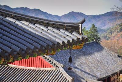 Toits du temple Haeinsa