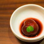 Tomate sauce aux fruits rouges - Restaurant Balwoo