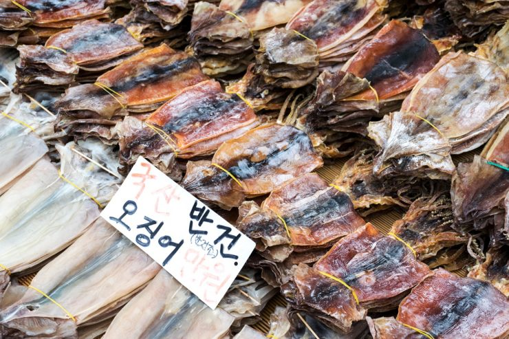 Dried fish - Jagalchi fish market, Busan