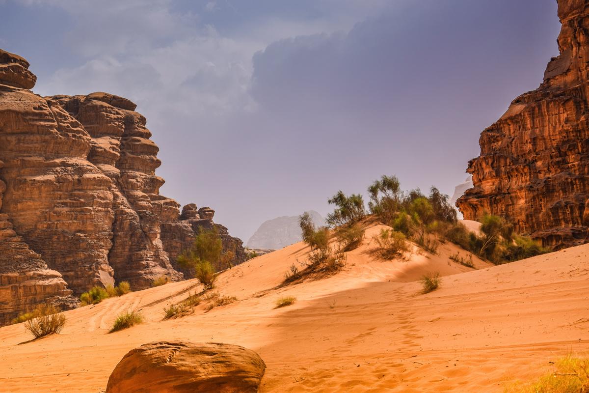 Ciel chargé dans le Wadi Rum