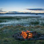 Coucher de soleil au bord du lac Titicaca