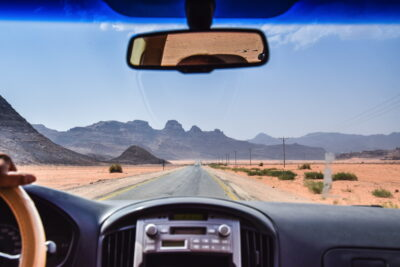En route vers le Wadi Rum
