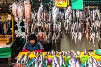 Etal au marché de Jagalchi