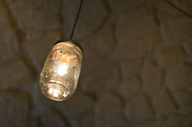Luminaire à l'hôtel Thérèse