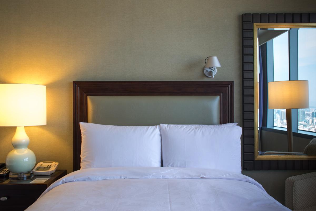 Lit de ma chambre au JW Marriott Hotel Seoul