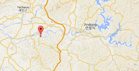 Carte Hahoe - Corée du Sud