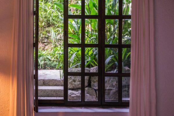Fenêtre à l'Inkaterra Machu Picchu