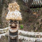 Statue en bois à Hahoe