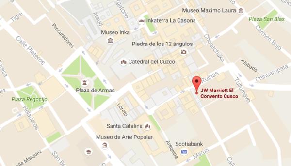 Plan JW Marriott El Convento Cusco