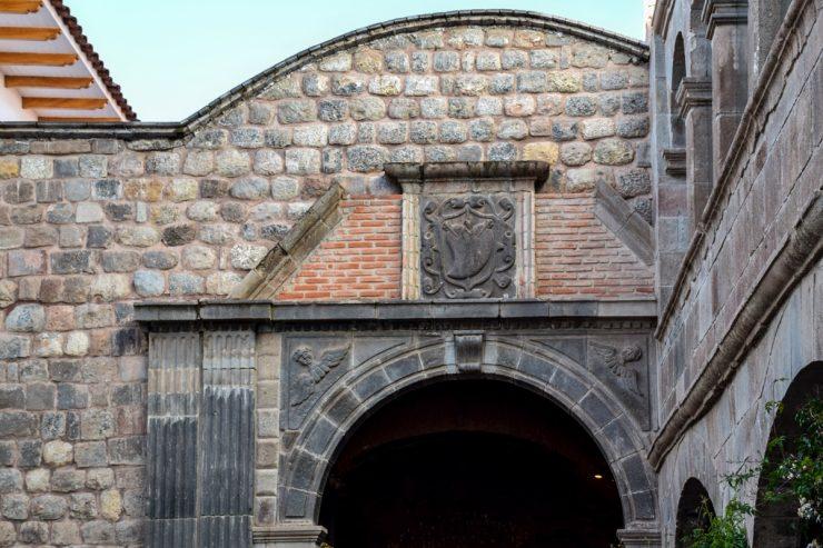 Porte d'entrée du couvent