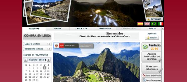 Réservation de billets pour Machu Picchu