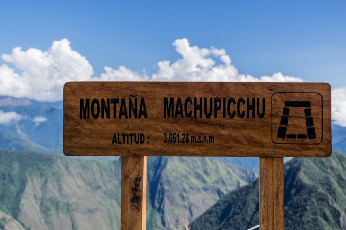 Sommet de la montagne Machu Picchu