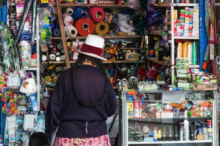Stand du marché d'Urubamba