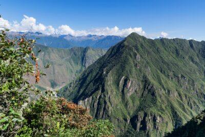 Vue depuis la montagne Machu Picchu
