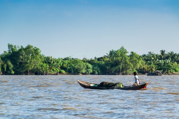 Bateau sur le delta du Mékong au Vietnam