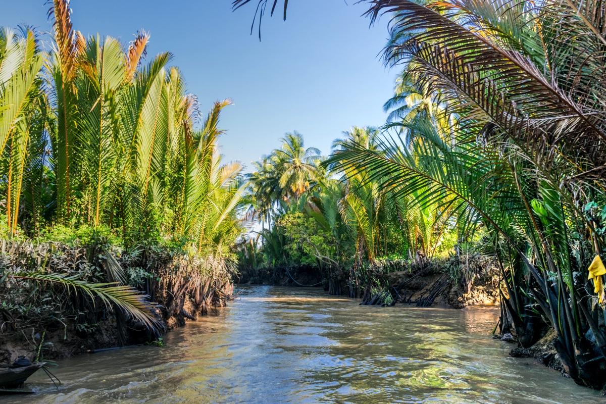 Un canal du delta du Mékong
