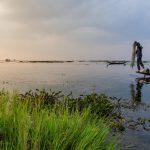 Fin de journée sur le lac Inle