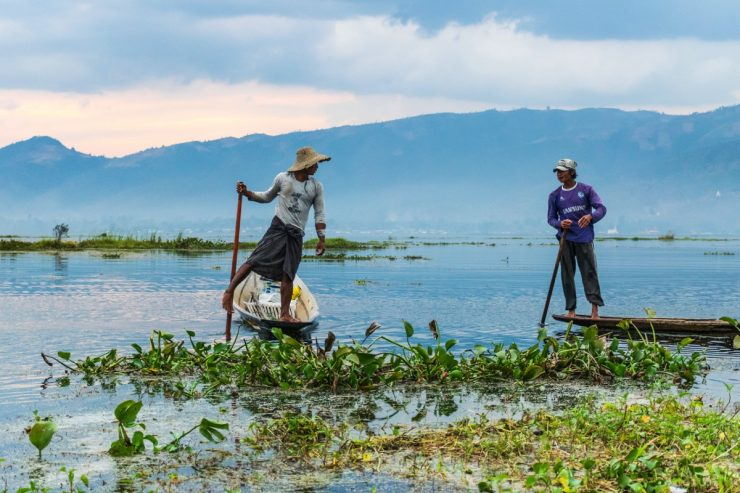 Fishermen - Inle lake, Myanmar