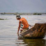 Pirogue sur le lac Inle
