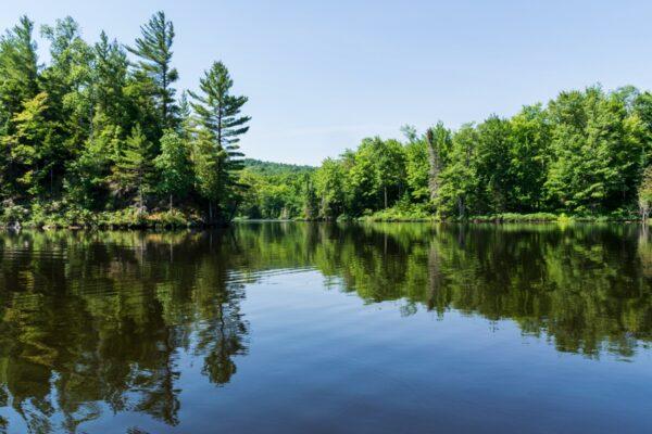 Lac dans le parc du Mont Orford