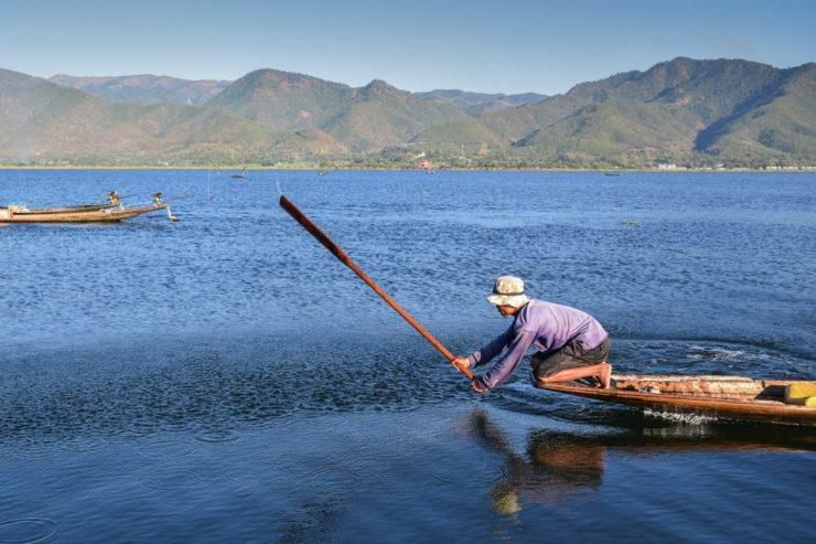 Pêche sur le lac Inle
