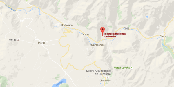 Plan pour accès à l'Inkaterra Hacienda Urubamba