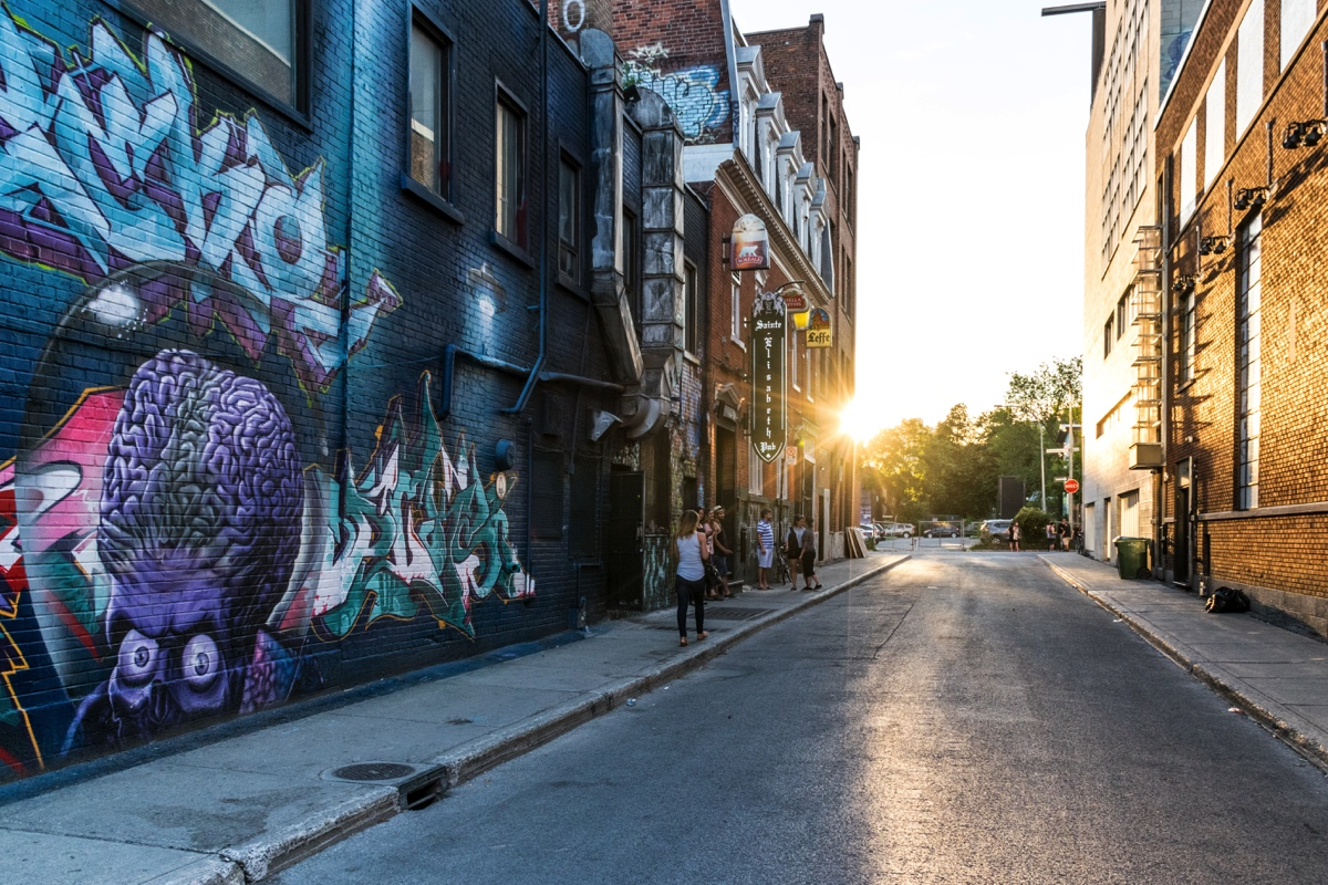 Une rue de Montréal