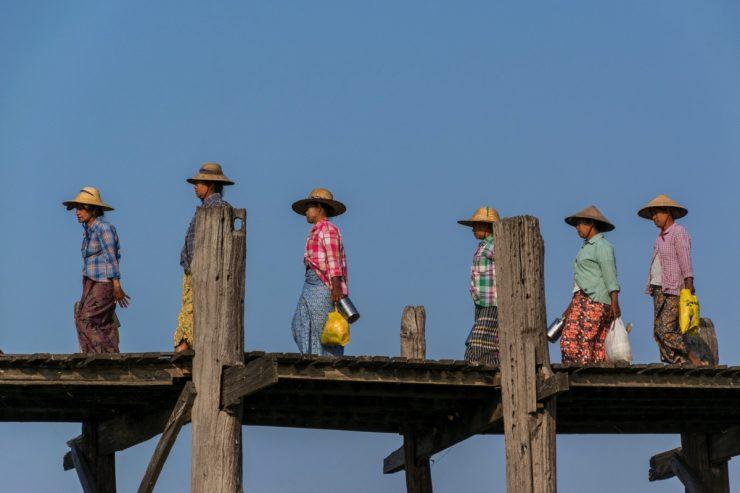 Back from work - U Bein bridge