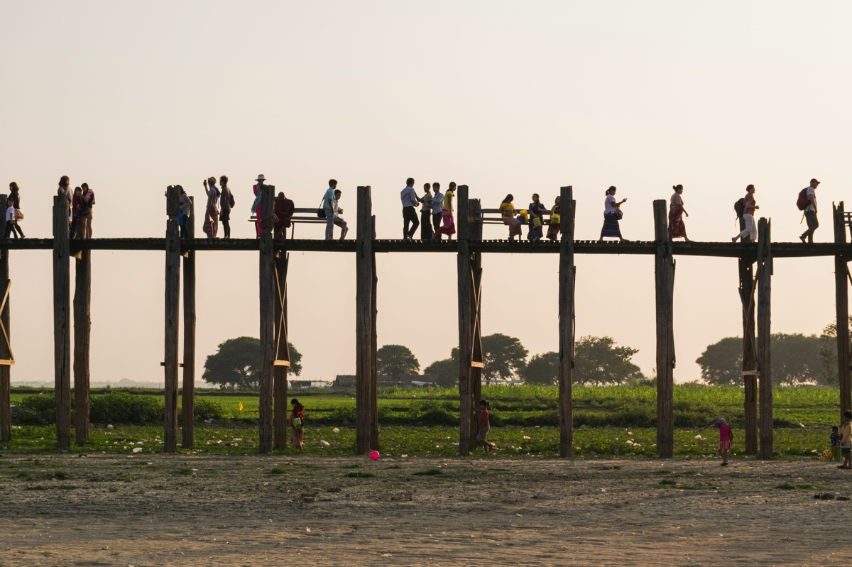 Fin de journée au pont U Bein
